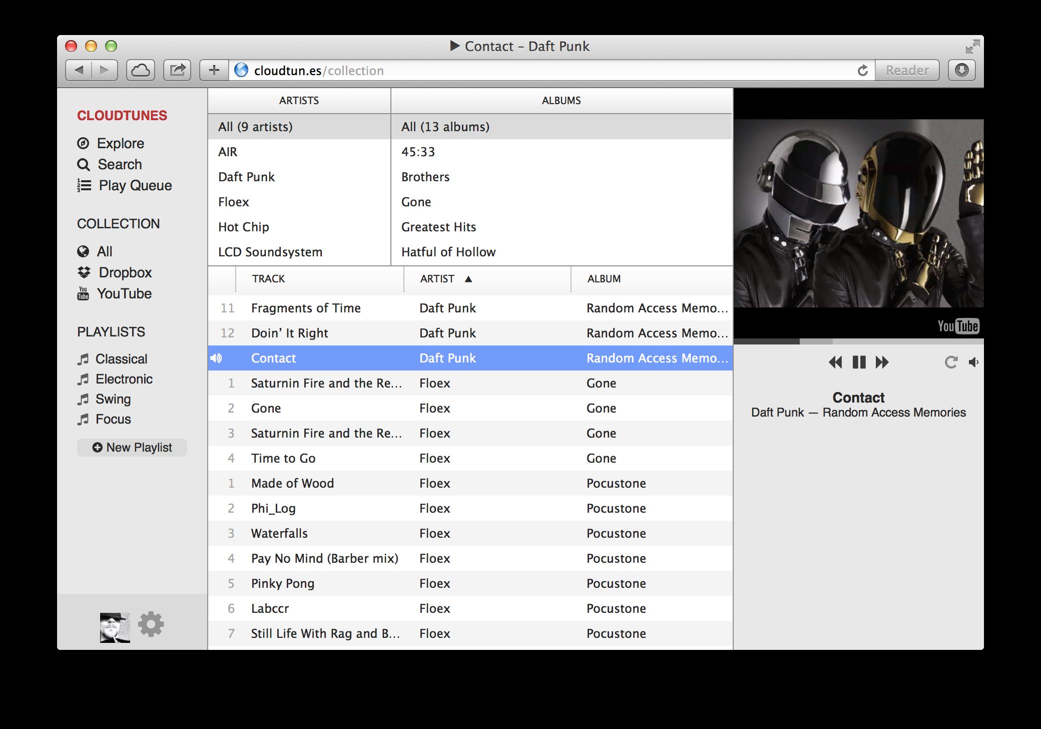 Cloud Tunes screenshot